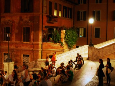 Sit on the Spanish Steps in Rome