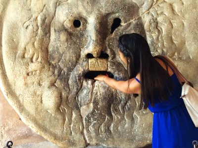Touch the Mouth of Truth in Rome
