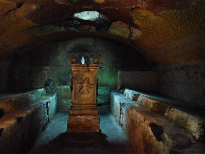 Go down to the Mithraeum in Rome