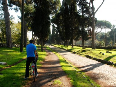 Cycling the Appian Way in Rome