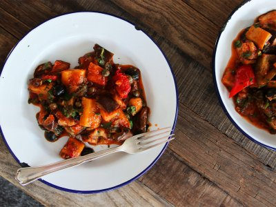 Try caponata in Sicily