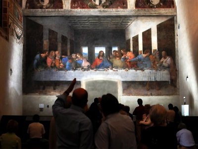 "See the famous fresco by Leonardo da Vinci ""Last Supper"" in Milan"