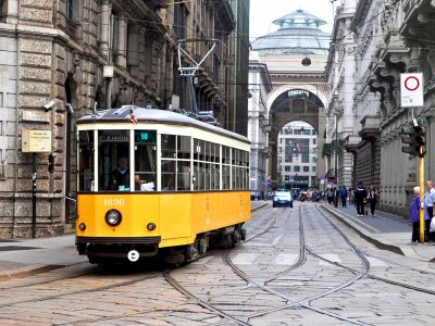 Ride around the city on the historic tram #1 in Milan