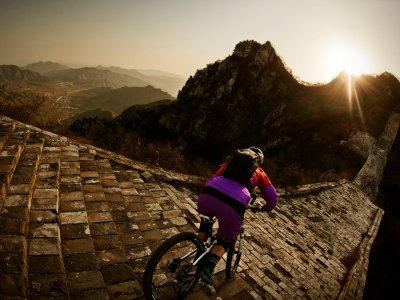 Ride a bike on the Great Wall of China in Beijing