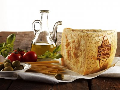 Try the cheese grana padano in Milan