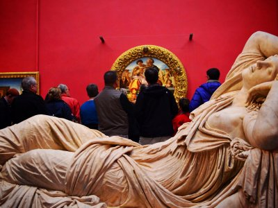 See the masterpieces in the Uffizi Gallery in Florence