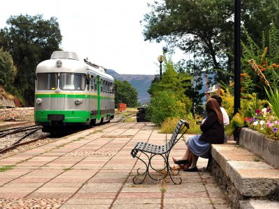 Drive on the Green Train around Sardinia on Sardinia