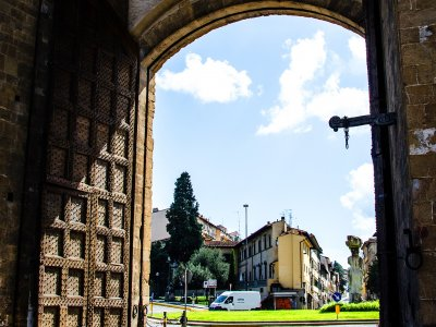 Go through Porta Romana in Florence