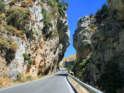 Drive the scenic road Koksare-Preveli on Crete