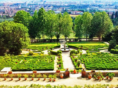 Take a walk on the Villa Petraia terrace in Florence