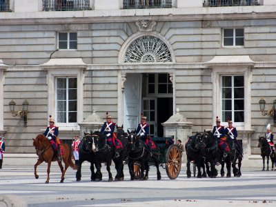 See the Changing of the Guard in Madrid