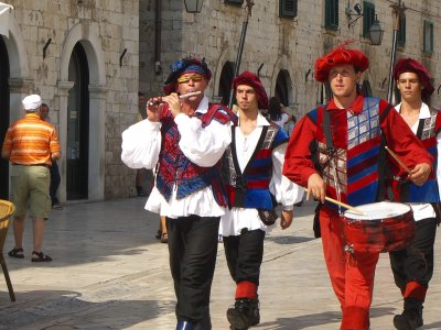 See the city guards of Dubrovnik in Dubrovnik