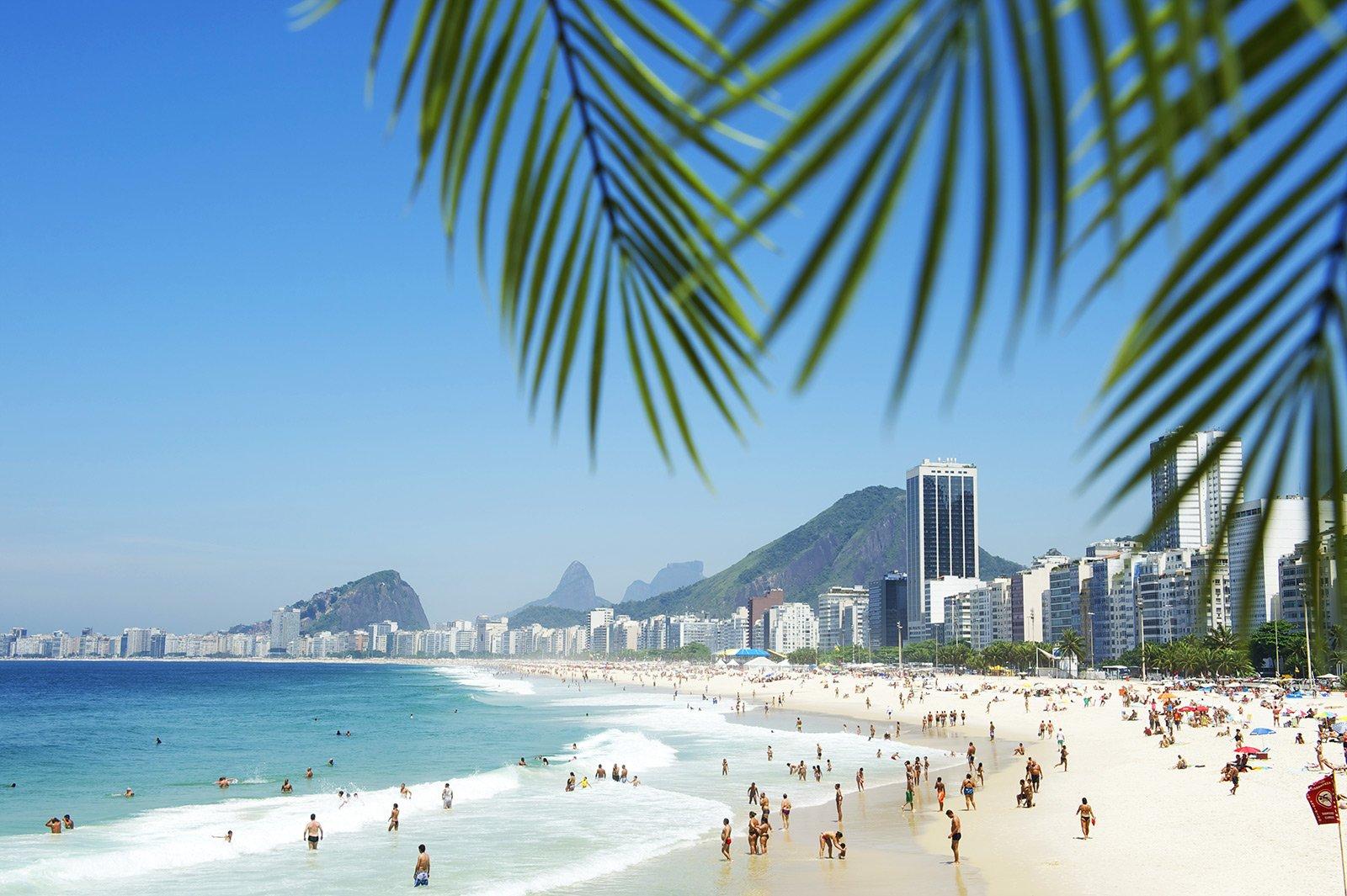 Copacabana beach, Rio de Janeiro,   Stock Photo