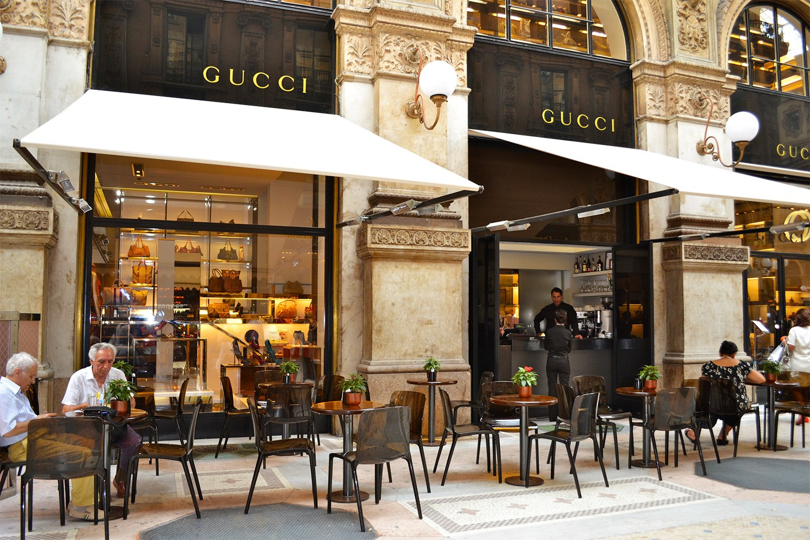 Gucci caf milan for Best coffee in milan