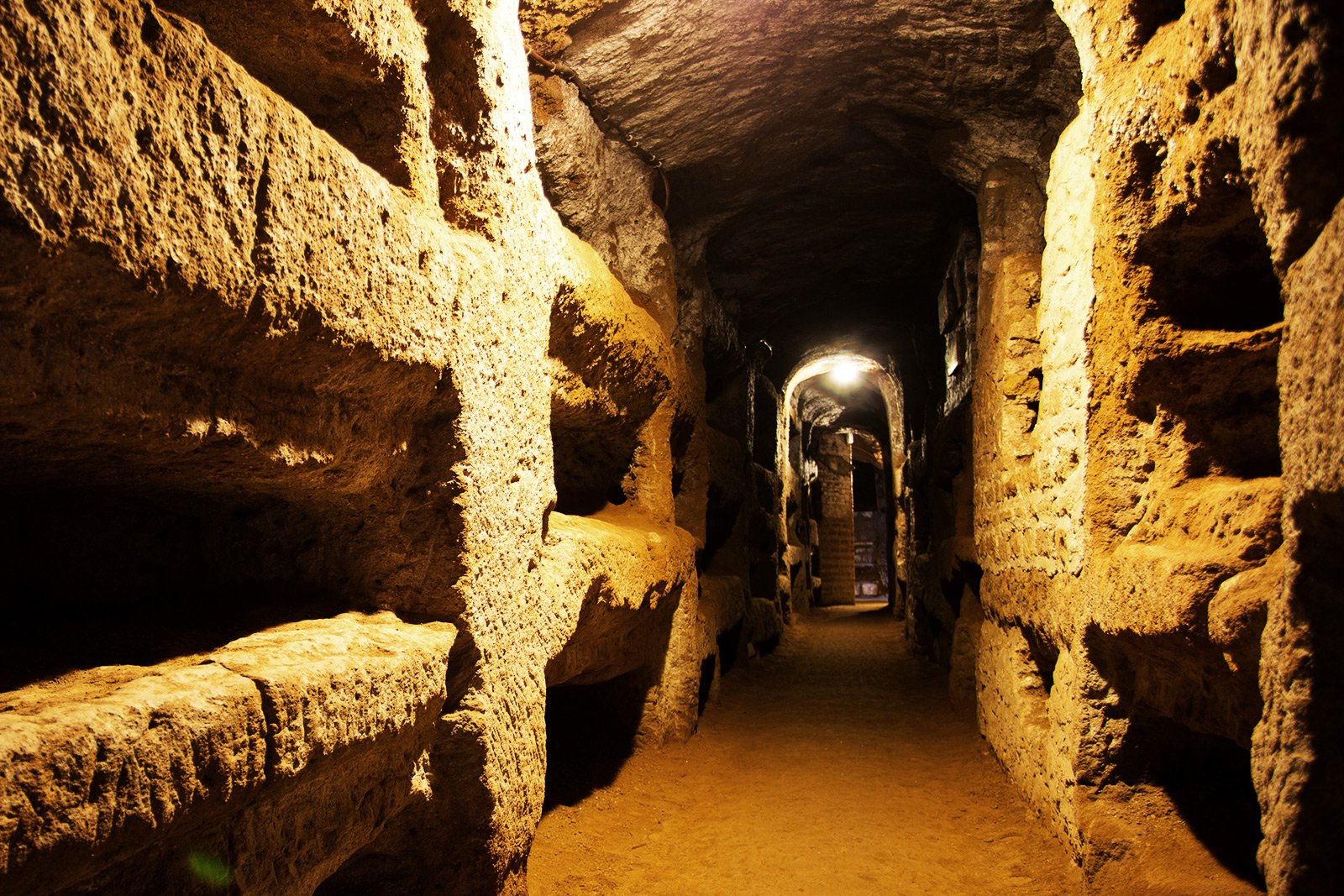 The catacombs of St. Callixtus, Rome