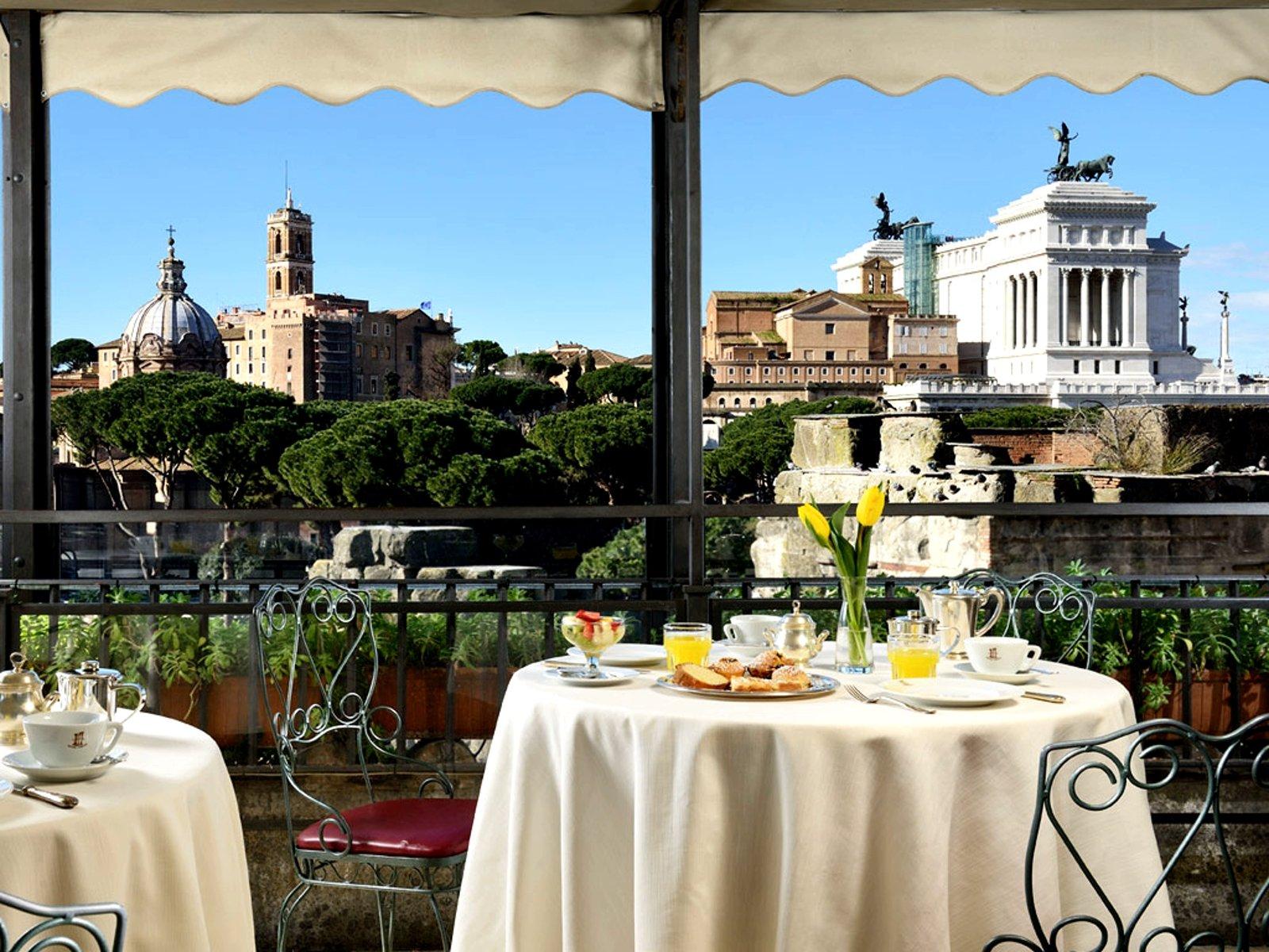 Rooftop Garden Restaurant Rome