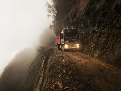 Yungas Road (Death Road) in La Paz
