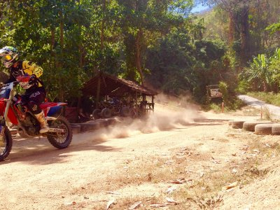 Motor-cross in the jungle in Phuket