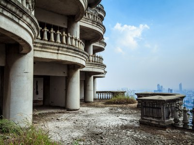 The abandoned Sathorn Unique Tower in Bangkok
