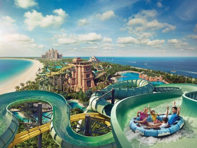 Water Park Aquaventure in Dubai