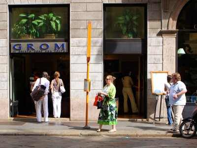 Grom Gelateria in Milan