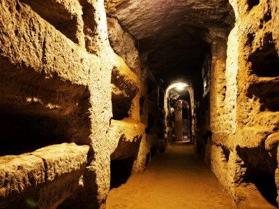 The catacombs of St. Callixtus in Rome