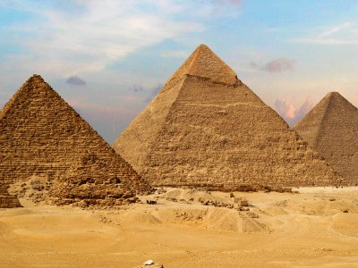 Great Pyramids of Giza in Cairo