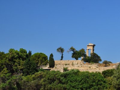 The Acropolis of Rhodes on Rhodes