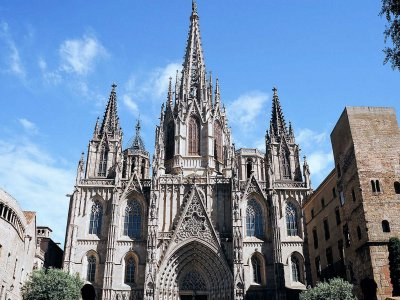 The Metropolitan Cathedral Basilica of Barcelona in Barcelona