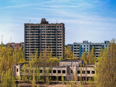 USSR 16-story building in Chernobyl