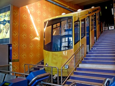 Cable car in Athens