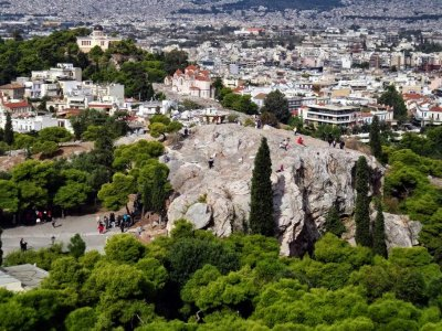 Areopagus Hill in Athens