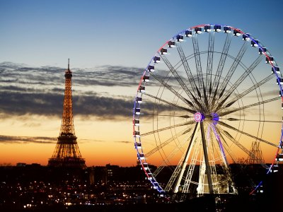 The Ferris wheel in Paris
