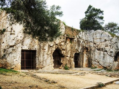 Socrates' prison in Athens