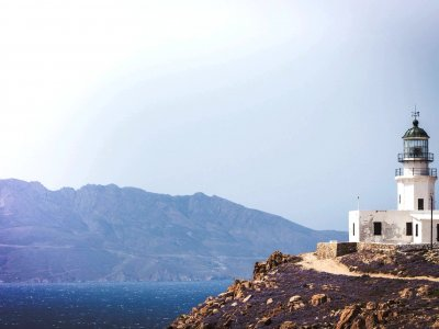 Armenistis Lighthouse on Mykonos