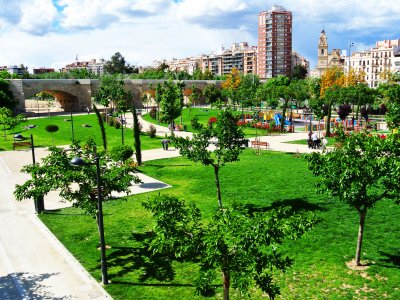 The Turia Gardens in Valencia