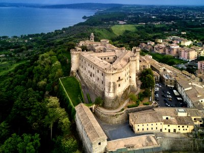Odescalchi castle and Bracciano lake