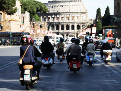 Best of Rome on Vespa
